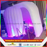 Будочка фотоего шатра 3D купола СИД светлая раздувная раздувная для венчания или случая