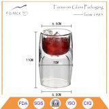 Alta taza hecha a mano del vidrio de Borosilicate para el vino