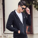 OEM Men Cotton Screen Impresso Zip-Hoodie Jacket (YK-171112)