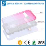 Caja de la caja del teléfono del brillo de Sotf TPU para el iPhone 7 con Stander