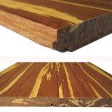 Sistema del tecleo o suelo de bambú tejido hilo del tigre de T&G