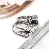 Тона типа сбор винограда кольца картины панковского восхитительного античного серебряного геометрические установленные для женщин