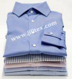 Tela tecida algodão do poliéster para a camisa/a tela tingida fio de Shirting