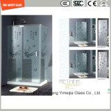 호텔 &Home에 있는 문 Windows 또는 샤워 문을%s 4-19mm 실크스크린 인쇄 또는 산성 식각 또는 서리로 덥은 또는 패턴 편평하거나 굽은 안전 부드럽게 했거나 단단하게 한 유리