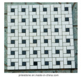浴室の装飾のためのカスタマイズされた暗いEmperadorの大理石のモザイク壁のタイル