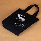 Großverkauf-preiswerte kundenspezifische schwarze Einkaufendrawstring-Geschäfts-Beutel für das Verpacken