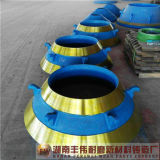 Desgaste - peças elevadas do desgaste do triturador do cone do aço de manganês da carcaça resistente