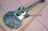 Гитара прозрачного типа Lp черноты стандартная изготовленный на заказ (GLP-88)