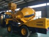 Misturador de concreto auto-alimentado móvel com sistema de pesagem automático