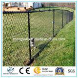Frontière de sécurité utilisée galvanisée de site de maillon de chaîne en fil de Matal