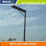 Luz de calle solar integrada de 90W LED con el panel solar de la batería