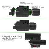 Lampe-torche de Q5 DEL combo rouge de vue de laser de 200 lumens avec le support compact de longeron