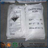 Soda cáustica del grado el 99% de la industria (escamas, perlas, hidróxido de sodio sólido)