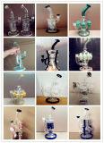 Tubo di fumo di vetro dell'acqua del riciclatore di vetro popolare con i vari disegni