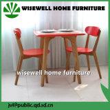 固体カシの小さい台所家具表および2脚の椅子