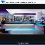 Contador de superfície contínuo acrílico comercial da barra da TW (TW-121)