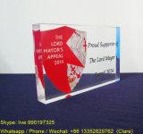 Выполненный на заказ блок индикации печатание логоса плексигласа PMMA