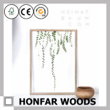 Blocco per grafici di legno naturale acrilico di stile dell'esemplare nordico della pianta