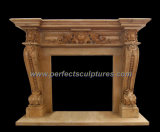 Intagliando Marble Fireplace per Outdoor Stone Fireplace Mantel (QY-LS286)