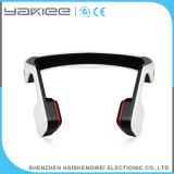 Écouteur sans fil blanc de bandeau de sport de Bluetooth de conduction osseuse