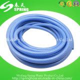 Boyau de jardin en plastique de vente chaud bleu de PVC de pression de prix bas
