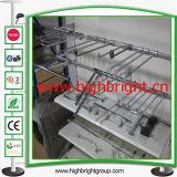 Exibição de suspensão de metal metálico para exibição J Gancho para gôndola de supermercado
