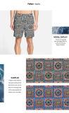 Tela impresa nuevo diseño del poliester para la ropa de sport de los cortocircuitos de la playa