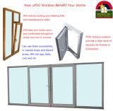 Vensters van de Prijs UPVC van Australië de Standaard met Dubbel Glas