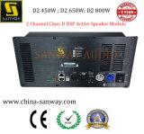 Módulo ativo do altofalante da Classe-d DSP da canaleta de D2450 450W+450W 2