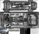 Портативный детектор бомбы под системой охраны корабля для полиций и воиска