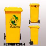 pattumiera di gomma di plastica della rotella dello scomparto di rifiuti 120L per HD2wnp120A-Y esterno
