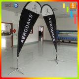 знамя летания печатание торговой выставки 2.8m алюминиевые двойные бортовые/флаг Teardrop