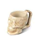Caneca cerâmica do curso do café do projeto da faculdade criadora com crânio