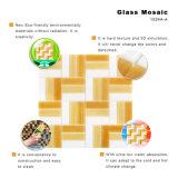 Mattonelle di vetro della Tabella del mosaico dell'oro e materiale da costruzione per la stanza da bagno