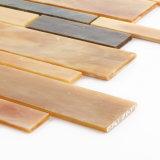 Nunca desvanece-se o mosaico do vidro de Backsplash da cozinha da telha do edifício de Brown