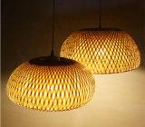 タケ編むランプのかさの低下ライト天井ランプのペンダント灯