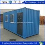 Casa pré-fabricada do recipiente do bloco liso do edifício do painel de construção e de sanduíche de aço para o escritório/loja/acomodação