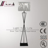 Stahl-LED Fußboden-Lampe des modernen Hotel-dekorativen weißen Gewebe-Farbton-