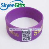 Bracelet fait sur commande bon marché de silicones de code de Personlized Qr de modèle populaire de fabrication