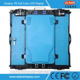 Hohes Resolution Farbenreiche HD P6 örtlich festgelegte Installation LED-Bildschirmanzeige