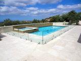 Frontière de sécurité en verre de piscine avec la broche ronde