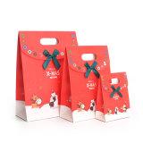 Saco de papel de embalagem de presente personalizado de luxo com estampagem a quente