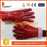 Van de Katoenen van pvc van Ddsafety 2017 de Rode Vlotte Gebeëindigde Handschoen Veiligheid van de Voering
