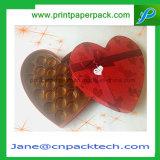 OEM Verpakkende Doos van de Gift van de Chocolade van Kerstmis de Dag hart-Gevormde