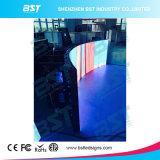 Flexible P4 gebogene LED, die Bildschirm mit 140 Grad-Betrachtungs-Winkel bekanntmacht