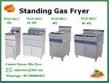 Friggitrice diritta commerciale popolare del gas dell'acciaio inossidabile della strumentazione della cucina