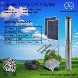 sistema di pompaggio sommergibile centrifugo di energia solare 3inch