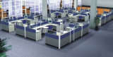 حديثة ألومنيوم زجاجيّة خشبيّة حجيرة مركز عمل/مكتب حافز ([نس-نو306])