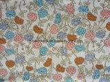 Algodão 100% impresso flor da tela do jacquard da forma