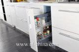 Mobília de madeira lustrosa moderna do gabinete de cozinha